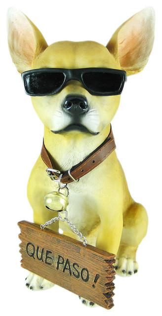 Cool Chillinu0027u0027 Chihuahua Dog Welcome Statue