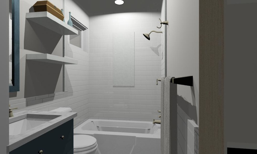Master Bathroom - 3D rendering