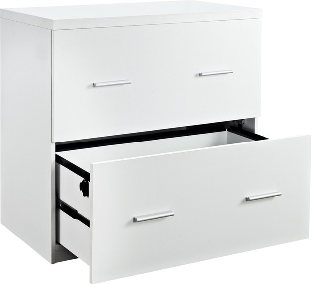 Princeton Lateral File Cabinet for Home Office, Espresso - Contemporary - Filing Cabinets - by ...