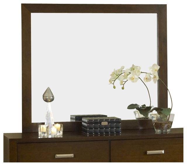 Modus Furniture Riva Mirror In Chocolate Brown.