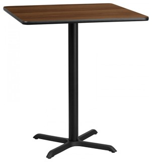 Flash Furniture Square Walnut Table Top