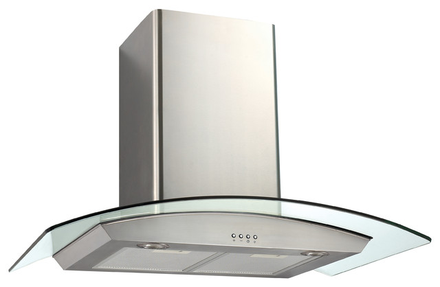 gc430 glass and stainless steel wall mounted range hood 30