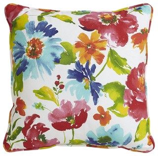 Belle Watercolor Floral Pillow
