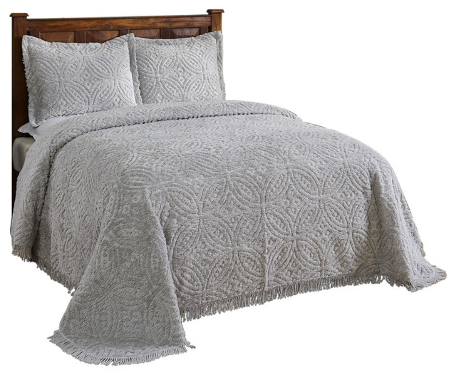 Wedding Ring Chenille Bedspread Contemporary Quilts