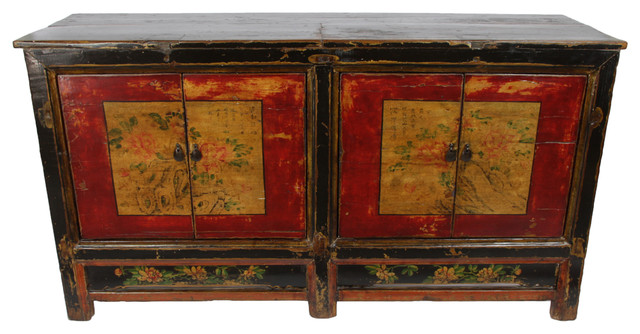 Pin Dynasty Consigned Antique Mongolian Sideboard