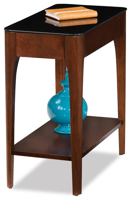 Obsidian Narrow Chairside Table.