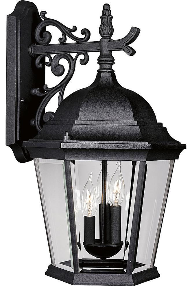 Textured Black Progress Lighting P5681-31 1-Light Cast Wall Lantern