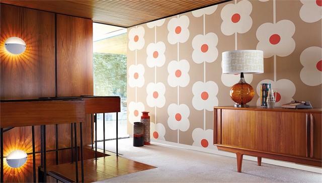 Retro ideen mit tapete und stoff mid century for Raumgestaltung goerdel