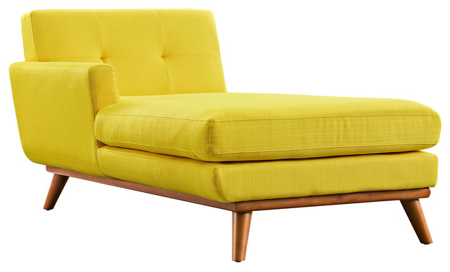 Engage Left Arm Chaise Midcentury Indoor Chaise Lounge Chairs By Wholes