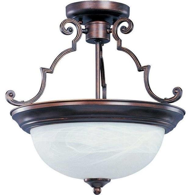 Maxim Lighting 5843mroi Essentials - 584x Traditional Semi-Flush Mount.