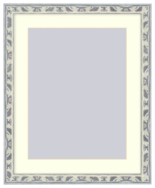 Wall Picture Frame Light Gray Silver Ornate frame - acid-free white ...