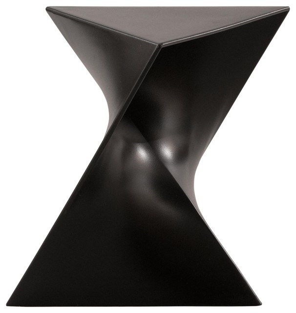Leisuremod Randolph Modern Accent Side End Table Indoor Outdoor Use Black