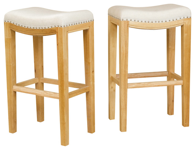 Jaeden Backless Stools Set Of 2 Traditional Bar
