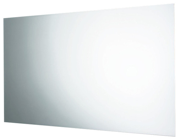 Wall Mounted Mirror With Polished Edge Contemporary Bathroom Mirrors