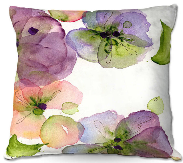 Dianoche Throw Pillows By Dawn Derman Pansy Fall.