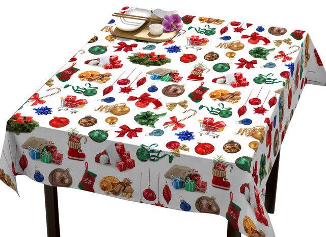 Christmas Eve Tablecloth   Eclectic   Tablecloths   By DREAM U0026 FUN Home  Decor