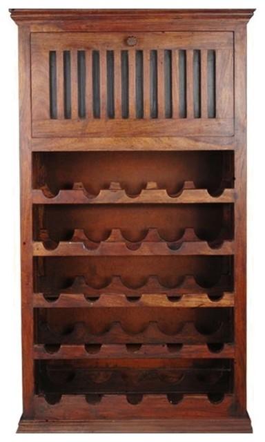 Haskins Solid Wood 25 Bottle Holder, Wine Rack Cabinet