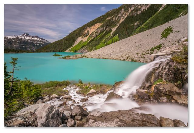 Pierre Leclerc &x27;glacier Waterfall&x27; Canvas Art, 32x22.