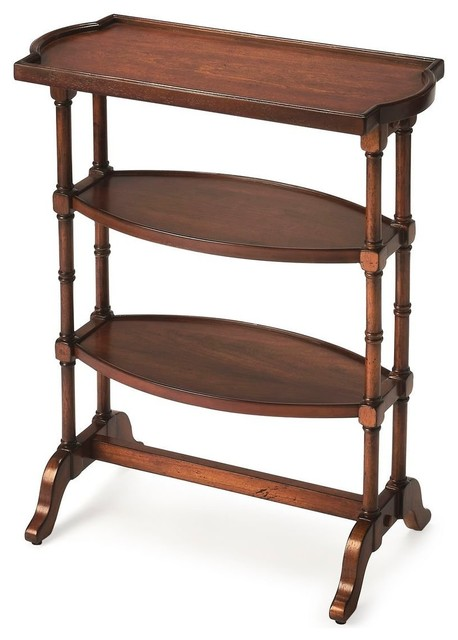 Butler Traditional Side Table, Medium Brown Traditional Side Tables And End