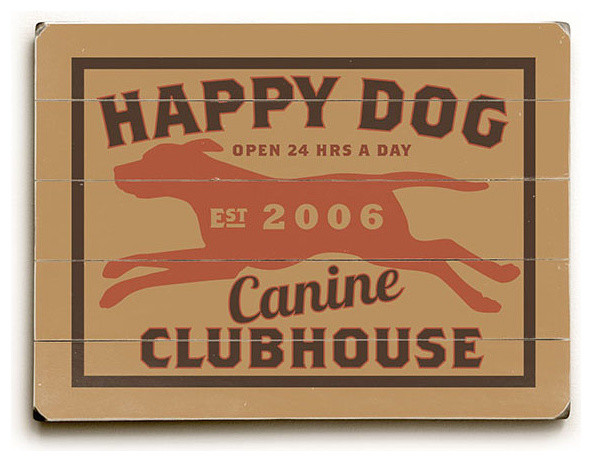 Artehouse Canine Clubhouse Wood Sign Novelty Signs Houzz