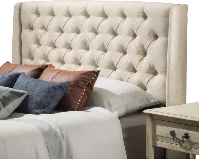 Allen Wingback Queen/Full Tufted Fabric Headboard