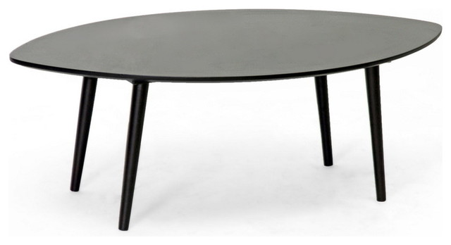 Modern Classic Retro Wood Coffee Table, Dark Brown Finish Midcentury Coffee  Tables