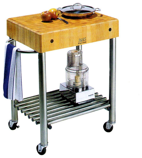 Stainless Steel Mobile Kitchen Cart.