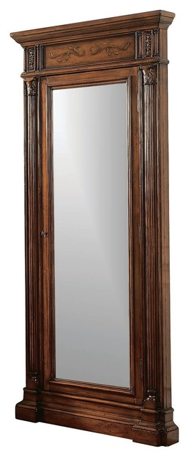 Hooker Furniture Floor Mirror With Jewelry Armoire Storage 500 50 558