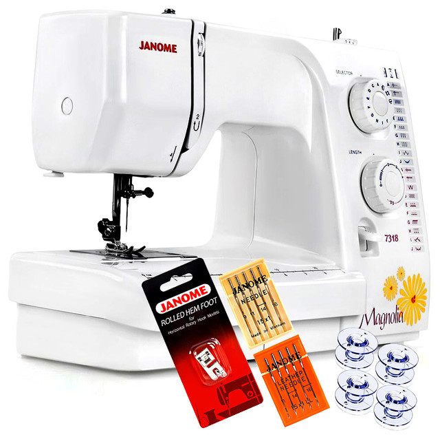 Janome Magnolia 7318 Sewing Machine With Free 4 Piece Vip Package