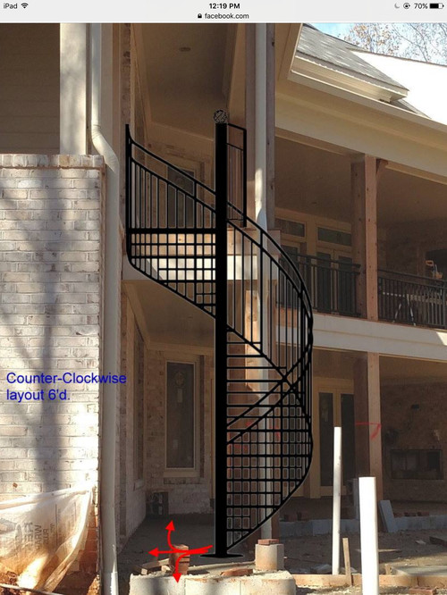 Completed Digital Design Estimates For Different Layouts Of Spiral Staircase