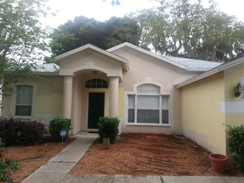 Help need exterior paint color to match white roof in florida for Florida house paint colors
