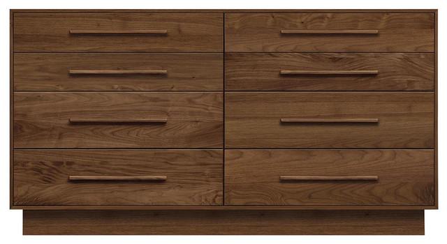 "Copeland Furniture Moduluxe 35"" 8 Drawers Dresser, Smoke Cherry."