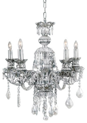 Silver mirror crystal chandelier 5 light traditional chandeliers silver mirror crystal chandelier 5 light aloadofball Images