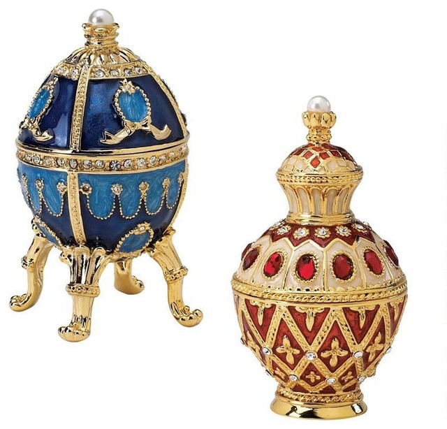 Royal Collection Russian Faberge Style Enameled Egg