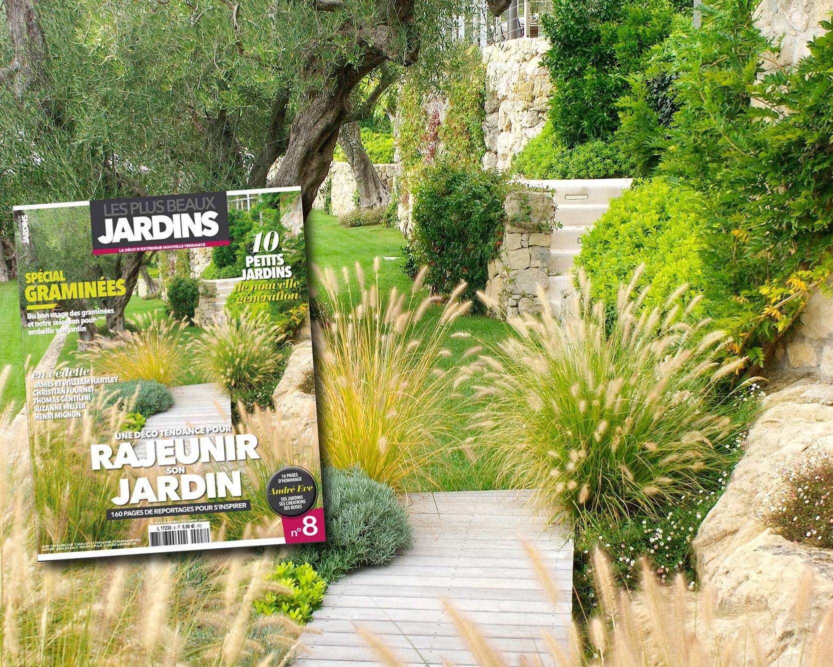 Parutions presse dans Les Plus Beaux Jardins ,novembre-decembre 2015/www.jardins