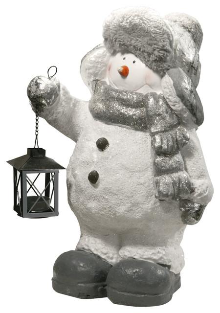 """16"""" Snowman Decor Candleholder."""