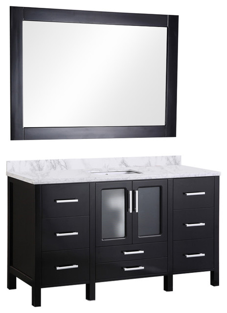 Stanton 60 Single Sink Vanity Set, Espresso.