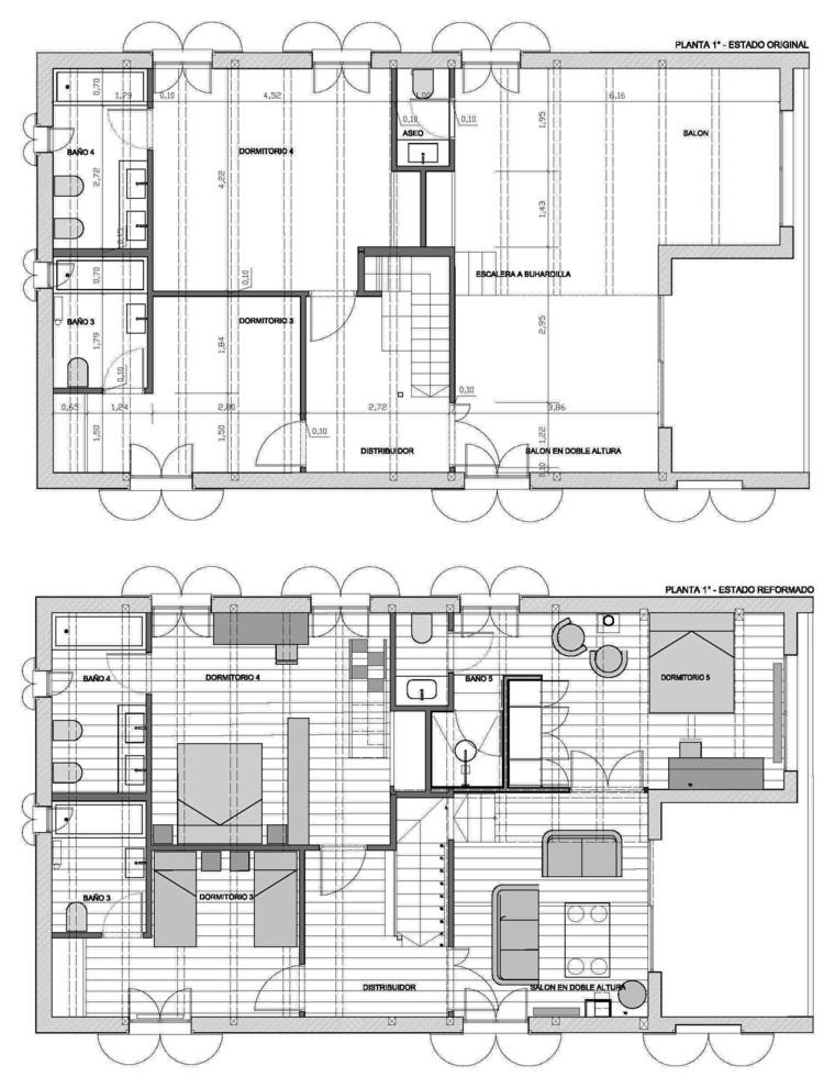 Reforma de una residencia secundaria en un pueblo