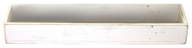 Rustic Centerpiece Box, White.