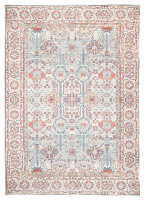 Tangier Woven Chindi Rug, 5&x27;x8&x27;.