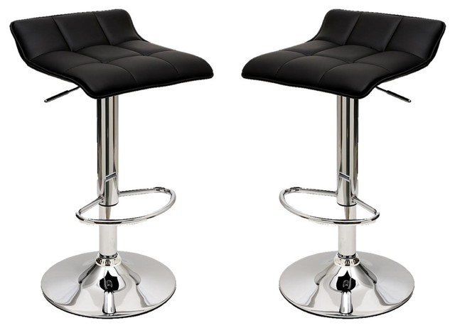 048ccbc5a761 Sleek Varick Barstool With Height Adjustable, Set of 2 - Contemporary - Bar  Stools And Counter Stools - by Furniture East Inc.