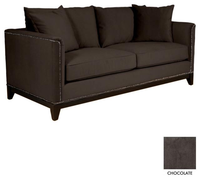 La brea studded sofa transitional sofas by apt2b for Studded sofa