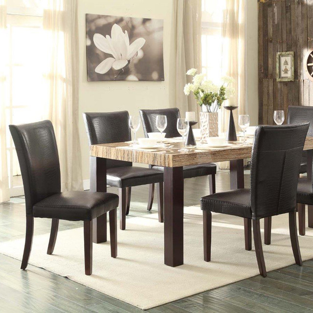Homelegance Robins 5 Piece Faux Marble Top Dining Room Set
