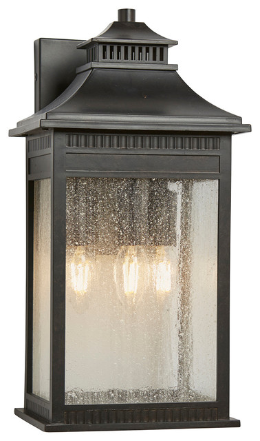 Livingston Bronze Outdoor Wall Lantern, Large