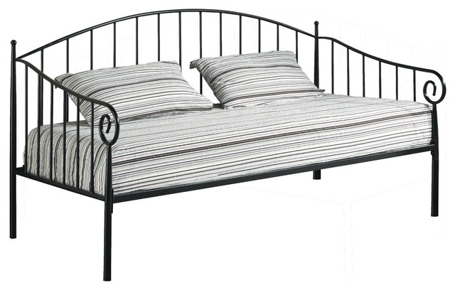 Emele Metal Daybed With Metal Frame, Black, Twin.