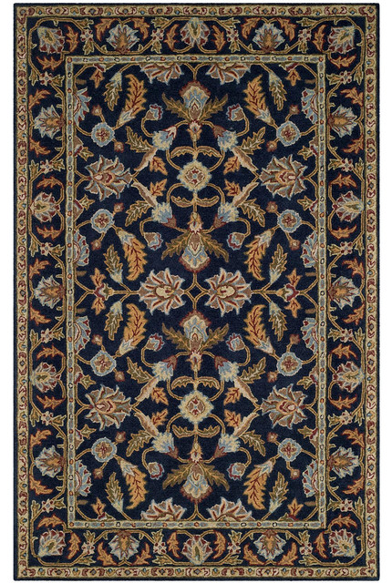 Safavieh Blossom Blm219a Floral Rug Navy Traditional