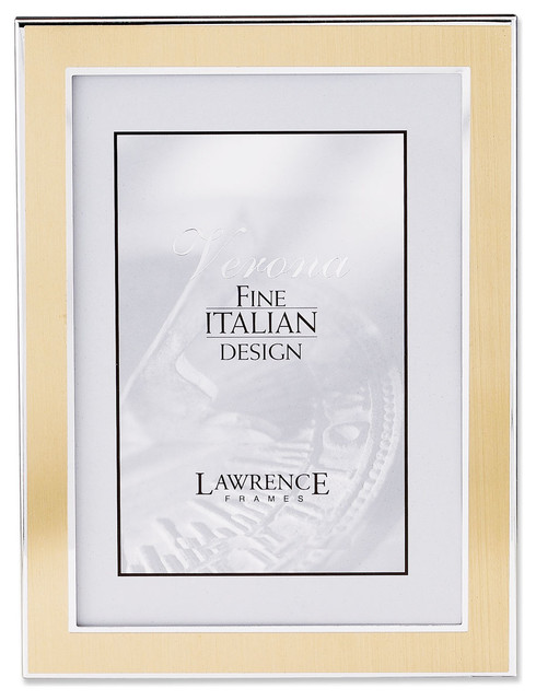 Silver and Gold 4x6 Metal Picture Frame - Traditional - Picture ...