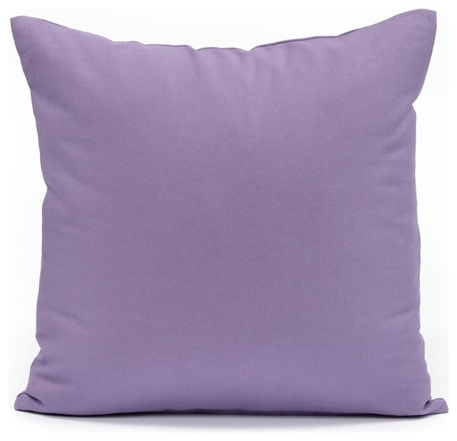 Solid Decorative Throw Pillows : Silver Fern Decor - Solid Lavender Throw Pillow Cover - View in Your Room! Houzz
