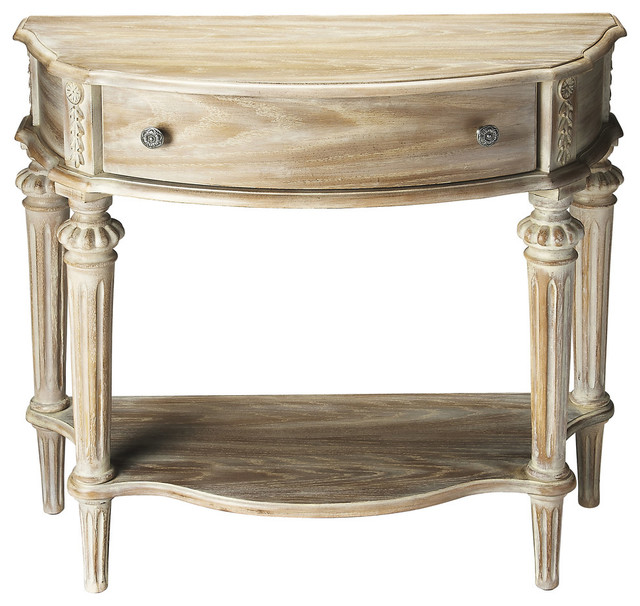 halifax driftwood console table gray