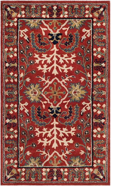 Traditional Antiquity Area Rug, Red/multi, 3&x27;x5&x27;.